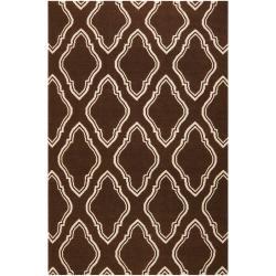 Jill Rosenwald Hand-woven Brown Masai Wool Rug (5' x 8')