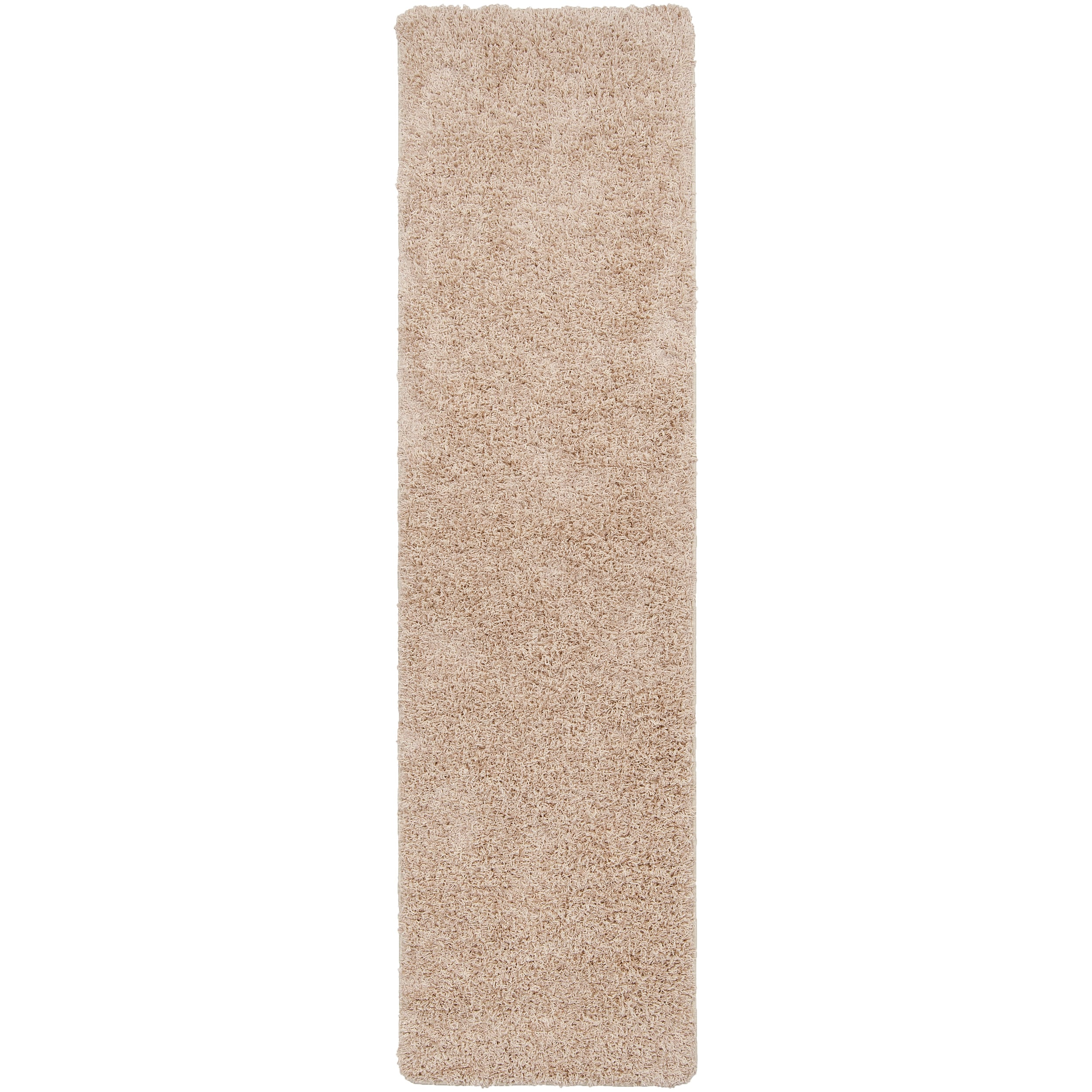 Woven Beige Calucy Plush Shag (2'3 x 8')