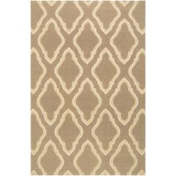 Jill Rosenwald Hand-woven Tan Serengeti Wool Rug (8' x 11')