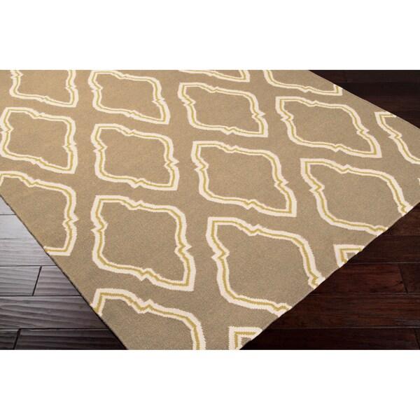 Jill Rosenwald Hand-woven Tan Serengeti Wool Rug (5' x 8')