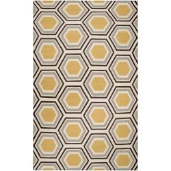Jill Rosenwald Hand-woven Grey Redeemer Wool Rug (5' x 8')