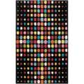 Tepper Jackson Hand-tufted Black Contemporary Multi Colored Circles Multi Colored Circles Andromeda