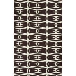 Jill Rosenwald Hand-woven Brown Zidee Wool Rug (8' x 11')