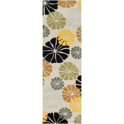 "Tepper Jackson Hand-Tufted Contemporary Multicolored Floral Dreamscape Wool Runner Rug (2'6"" x 8')"