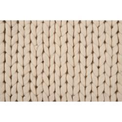 Hand-woven Edison New Zealand Wool Soft Braided Texture Rug (8' x 10')