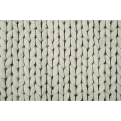 Hand-woven Gray Descartes New Zealand Wool Soft Braided Texture Rug (8' x 10')