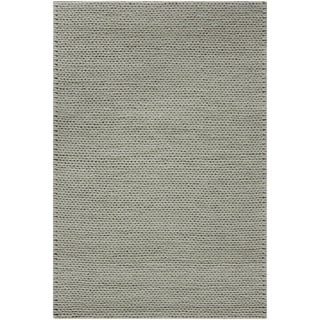 Hand-woven Gray Descartes New Zealand Wool Soft Braided Texture Area Rug - 8' x 10'/Surplus