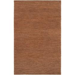 Hand-woven Brown Dominican Natural Fiber Hemp Rug (3'3 x 5'3)