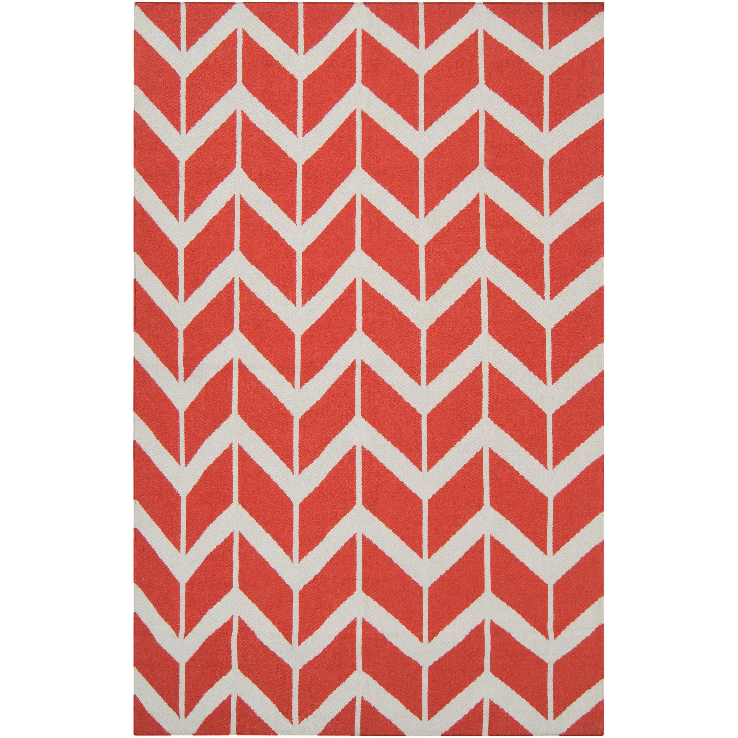 Jill Rosenwald Hand-woven Orange Abada Wool Rug (3'6 x 5'6)