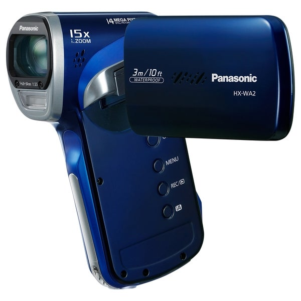 "Panasonic HX-WA2 Digital Camcorder - 2.6"" LCD - MOS - Full HD - Blue"