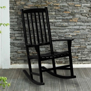 Upton Home Corbin Black Porch Rocker