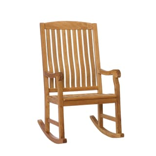 Baylen Teak Natural Oil Finish Porch Rocker