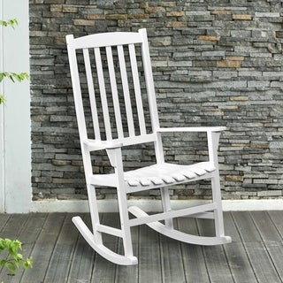 Anton Eucalyptus White Porch Rocker