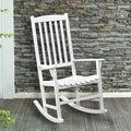 Anton Eucalyptus White Porch Rocker