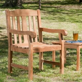 Reese Teak Light Brown Arm Chair