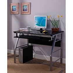 InRoom Silver Computer Desk