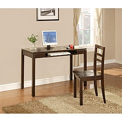 InRoom Espresso Desk and Chair Set