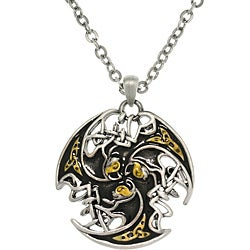 CGC Tri-color Pewter Unisex Celtic Lion Trinity Necklace