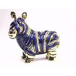 Cristiani Cartoon Zebra Gold-plated Pewter Crystal Trinket Box