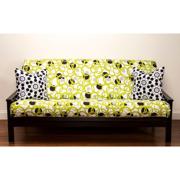 Full Circle Green Queen-size Futon Cover