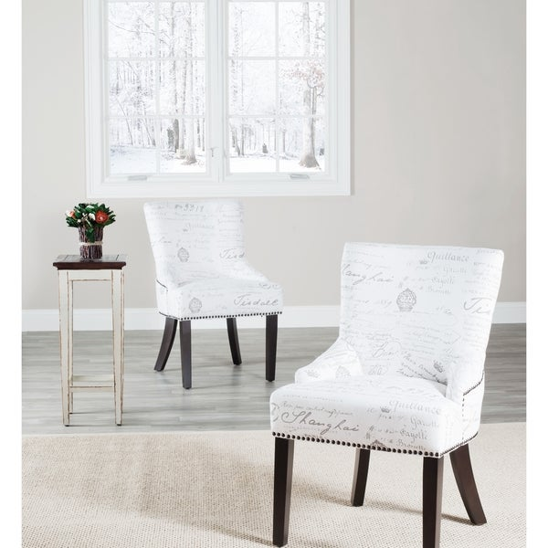 Safavieh Paris French Writing Nailhead Dining Chair (Set of 2)