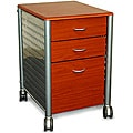 Innovex Mobile Cherry Wood Filing Cabinet