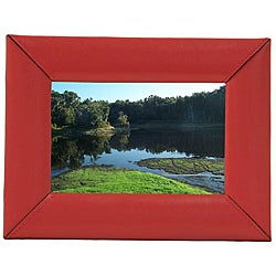 Red Leather 4x6-inch Picture Frame
