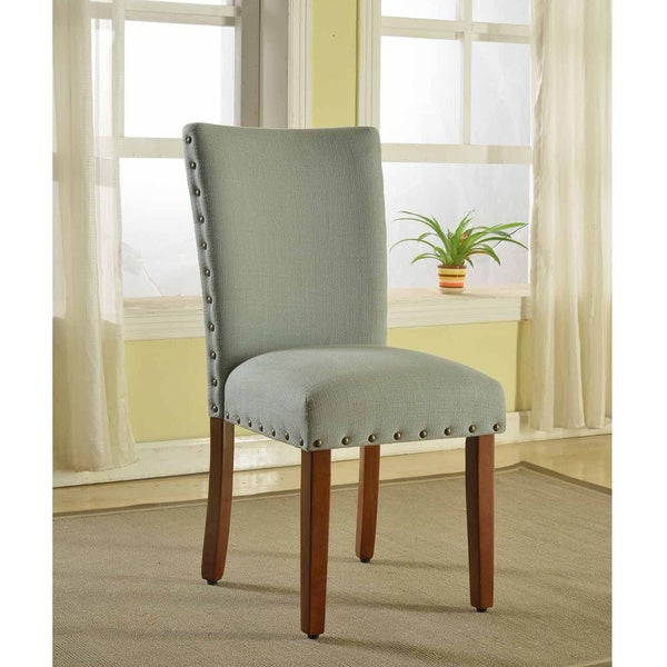 homepop sea foam nail head parsons chairs set of 2