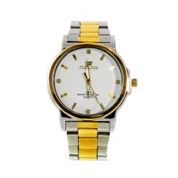 Fortune Men's 'Baton' Silver and Gold Two-tone Watch