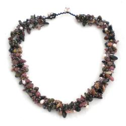 Royal Purple Tourmaline Five-layer Beauty Cotton Rope Necklace (Thailand)