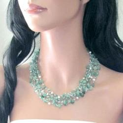 Green Nature Aventurine Five-layer Beauty Cotton Rope Necklace (Thailand)