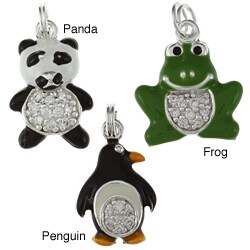 La Preciosa Sterling Silver Cubic Zirconia and Enamel Animal Charm