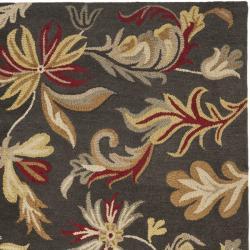 Safavieh Handmade Botanical Gardens Dark Grey Wool Rug (8' x 10')