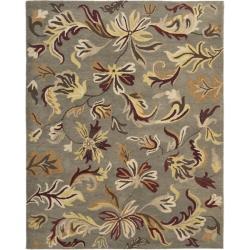 Safavieh Handmade Botanical Gardens Grey Wool Rug (8' x 10')