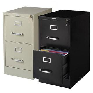 """Hirsh Commercial 22""""Deep 2-drawer Letter Vertical File Cabinet"""
