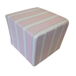Pink Stripes Kids Ottoman