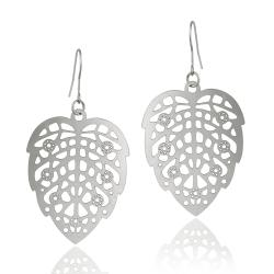 Mondevio Stainless Steel Cut Out Design Leaf Earrings