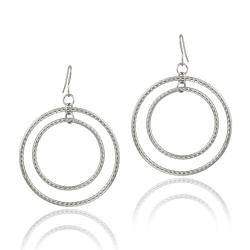 Mondevio Stainless Steel Double Circle Earrings