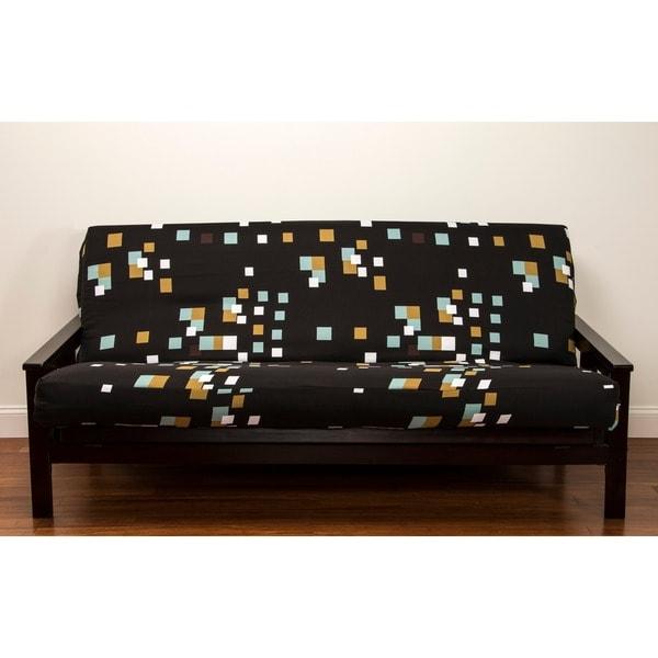 Modern Blocks Polyester Full-size Futon Cover