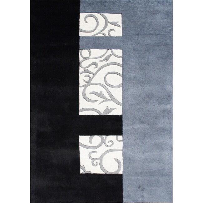 Handmade Metro Sabrina Grey Wool Rug (8x10)