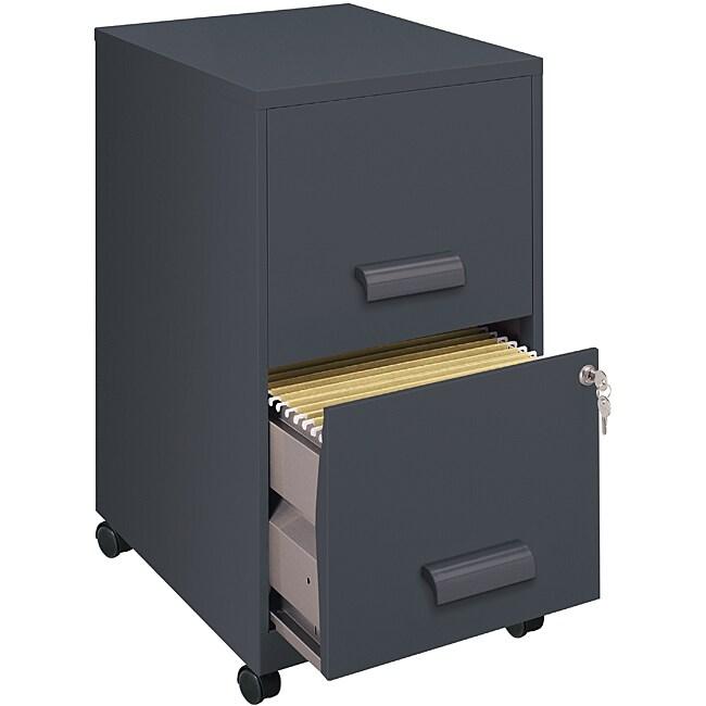 Office Designs Graphite 2-drawer Mobile File Cabinet