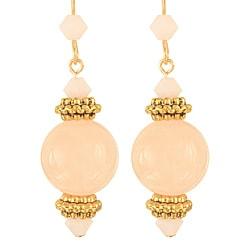 Gold filled 'Pink Grapefruit Blossom' Earrings (14k)