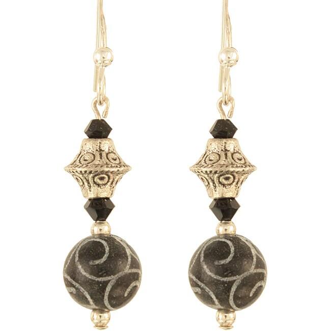 'Gothic Silver Swirls' Sterling Silver Earrings