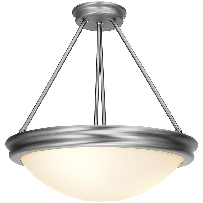 Atom Brushed Steel Semi-Flush/ Pendant Light