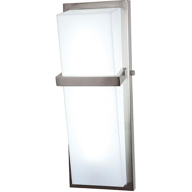 Access Sierra 1-light Brushed Steel Wall Vanity