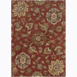 Mandara Hand-tufted Floral Wool Rug (9' x 13')