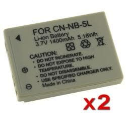 BasAcc NB-5L Batteries for Canon PowerShot SD790 SD890 IS (Pack of 2)