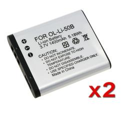 BasAcc Battery Pack 238944 for Olympus LI-50B (Pack of 2)