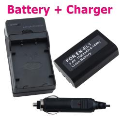 INSTEN Camera Battery and Charger for Nikon Coolpix 4500/ 5700/ 8700