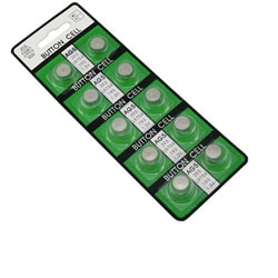 BasAcc AG5 Button Cell Lithium Batteries (Pack of 10)